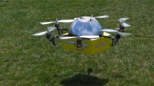 Phát minh mới thuê sách qua thiết bị bay không người lái