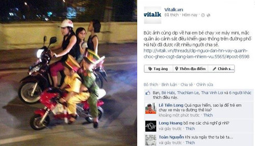 Vụ 39;cảnh sát nhí dẹp đường39; gây tranh cãi Facebook tuần này