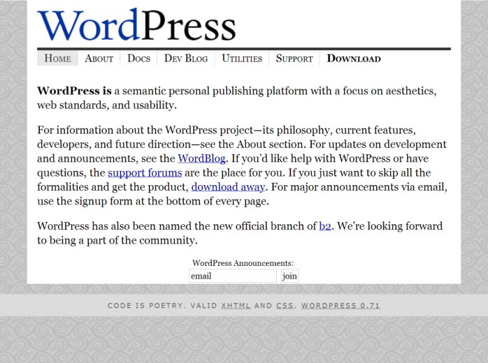 wordpress 2003