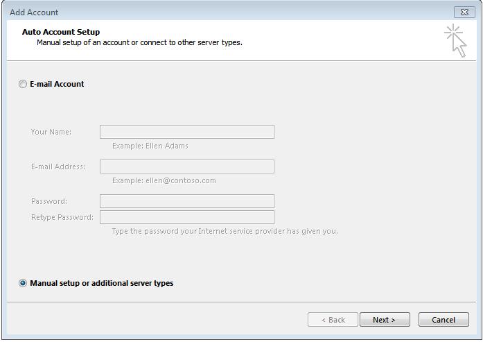 Cách cài mail công ty vào Outlook