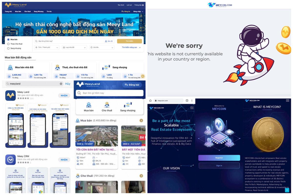 MeeyLand xây dựng web bất động sản online