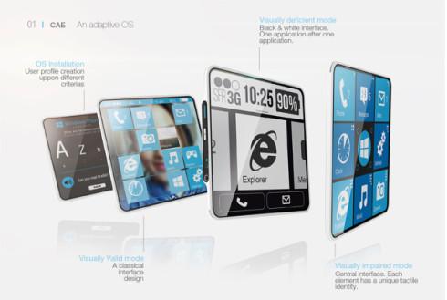 Ấn tượng với chiếc smartphone dành cho người khiếm thị