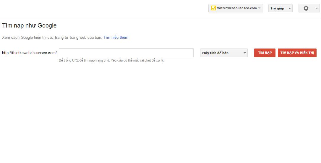 Cập nhật mới nội dung với Fetch as Google