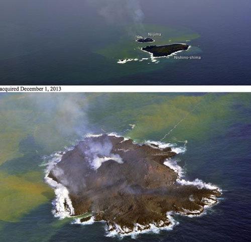 NASA phát hiện Đảo núi lửa lớn dần ngoài khơi Nhật Bản