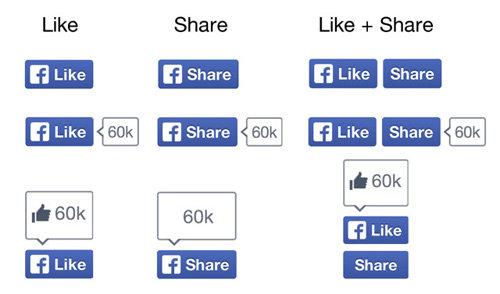 Facebook thay đổi giao diện nút Like và Share