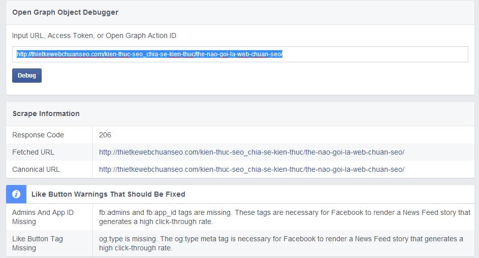 Khắc phục lỗi facebook không hiển thị ảnh khi chia sẻ link