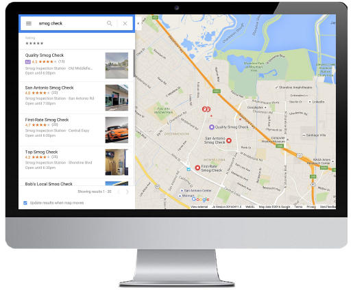 Quảng cáo tìm kiếm địa điểm Quảng cáo google map
