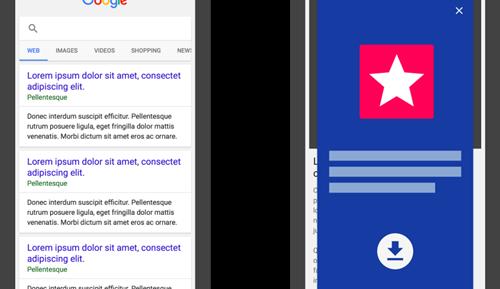 Từ khóa bị tụt hạng khi dụ người dùng cài ứng dụng di động của web